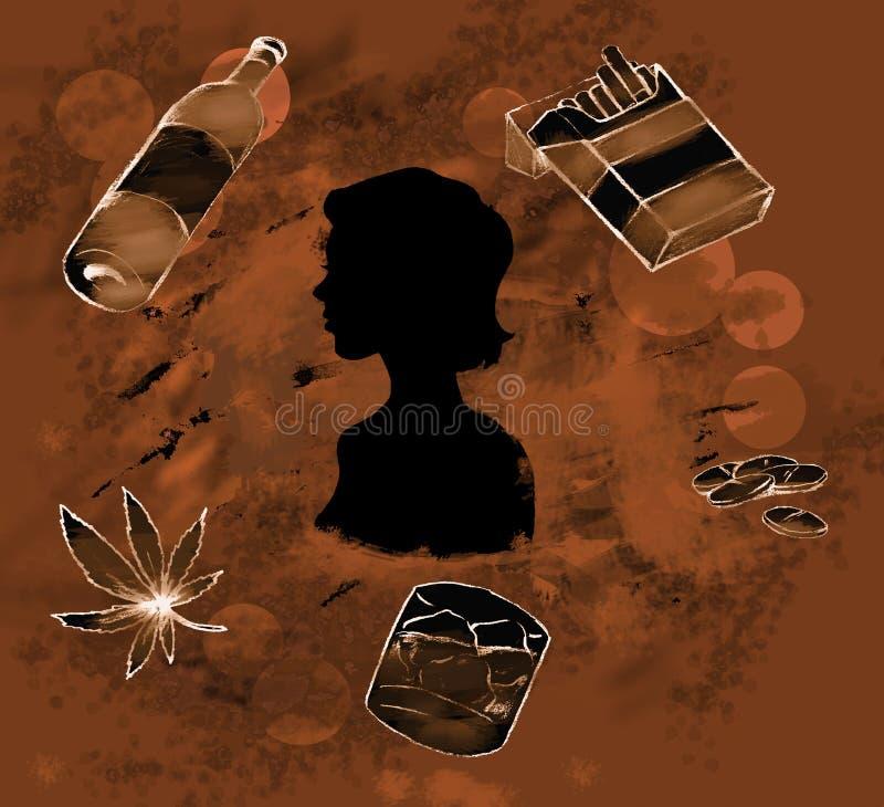 Drugs royalty-vrije illustratie