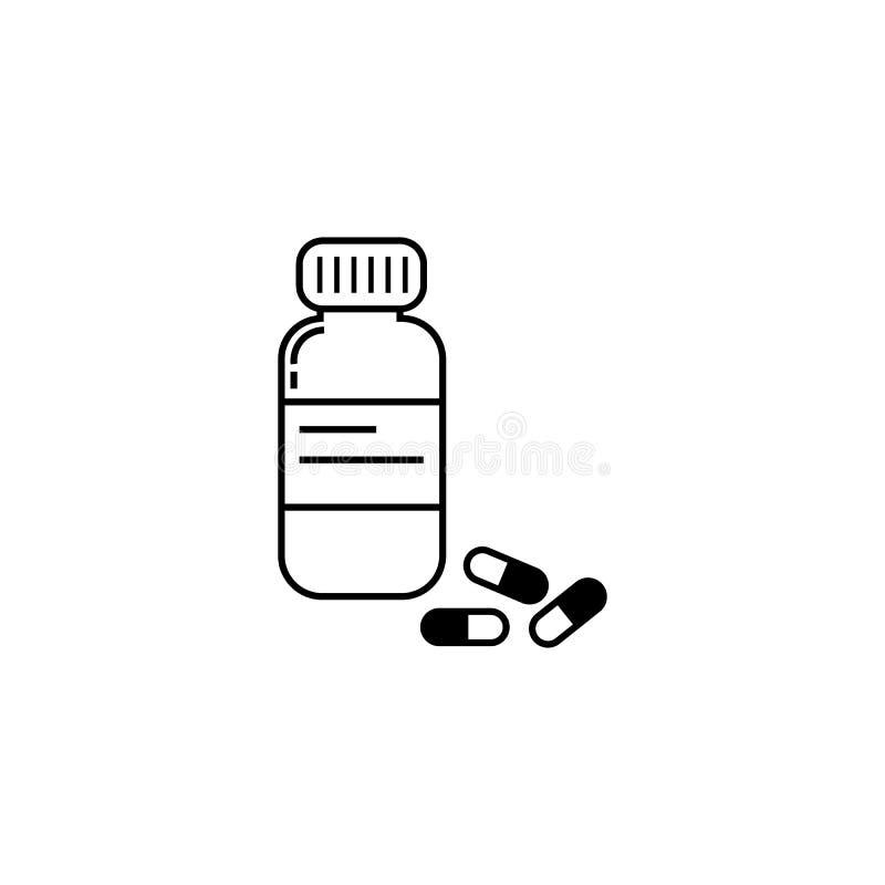 Drugs en flesje vectorpictogram vector illustratie