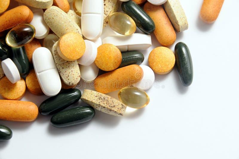 Drugs en vitaminen stock fotografie