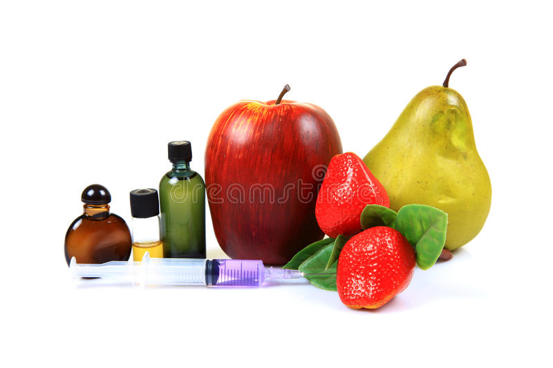 Drugs And Fruits Royalty Free Stock Photo