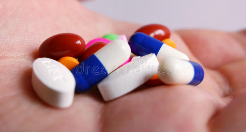 Download Drugs in hand stock photo. Image of medical, addiction - 16140210