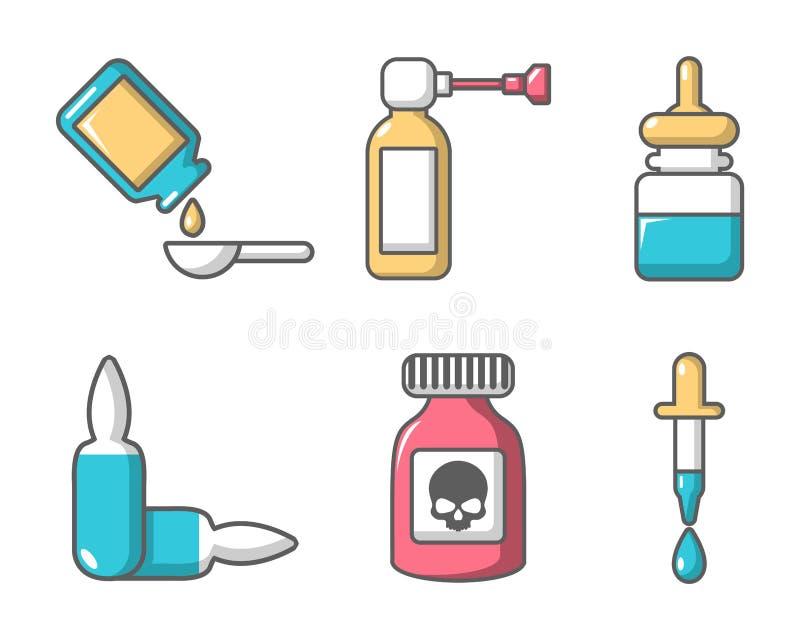 drugs icon set cartoon style stock vector illustration of drugs drugsicons 112526413 drugs icon set cartoon style stock
