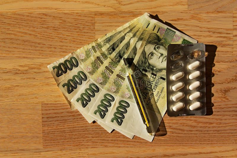 Drugs and money royalty free stock photography