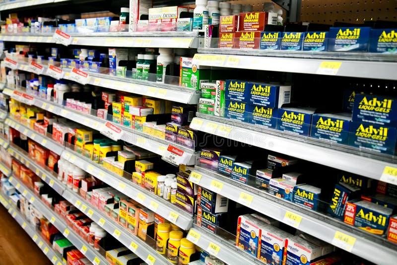 Drugs over de toonbank stock foto