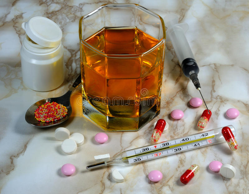 Download Drugs, Pharmacy Pills, Syringe, Thermometer Stock Image - Image: 12326917