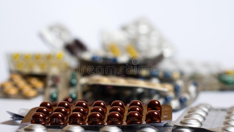 Drugs and pills royalty free stock photo