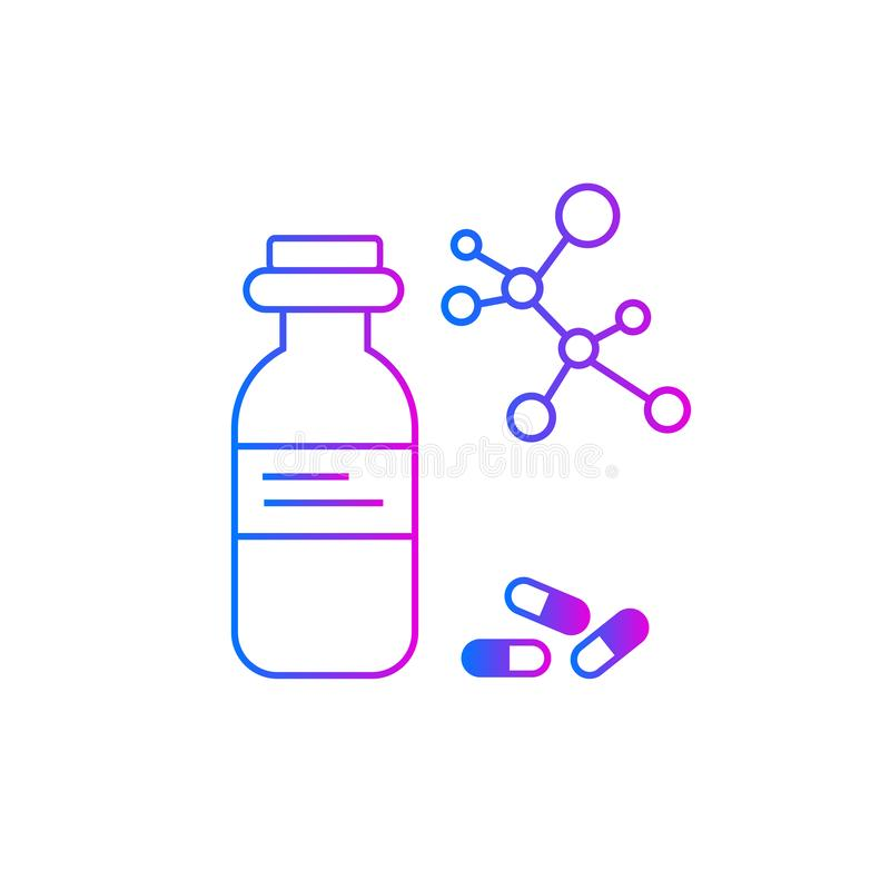 Drugs vectorpictogram, dosis de drug royalty-vrije illustratie