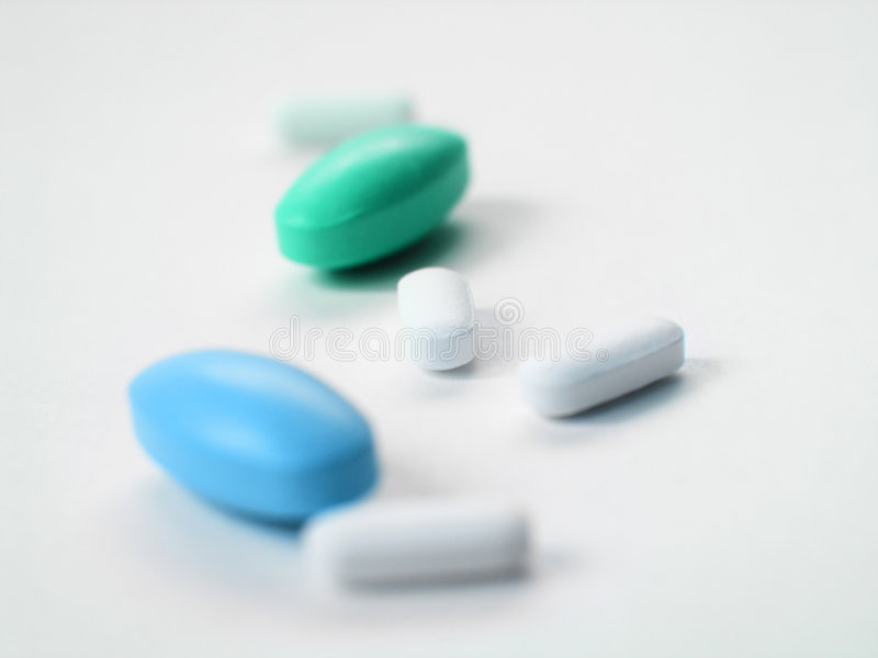 Drugs and vitamines. Some drugs and vitamines stock photos