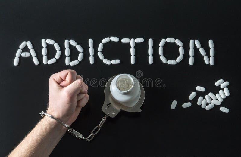 Drugverslaafde of medisch misbruik stock afbeeldingen