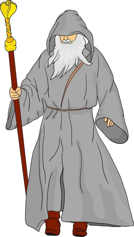 Druid ilustração stock