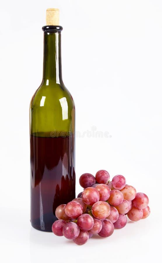 Druif en wijn stock fotografie