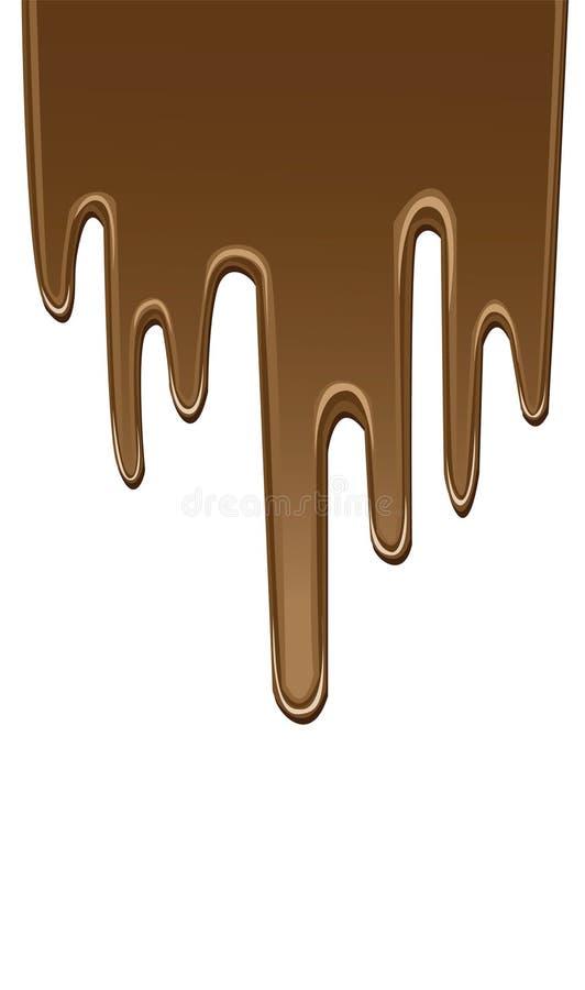 Druipende chocolade vector illustratie