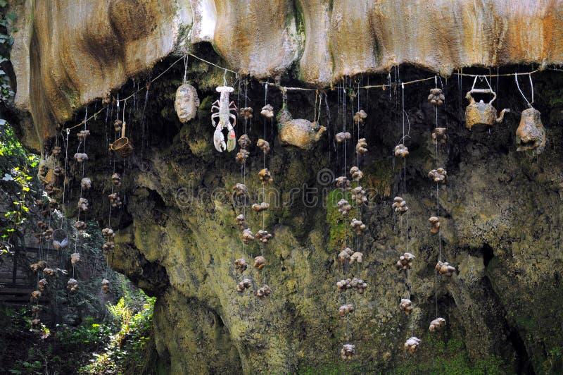 Druipende muur in Knaresborough, Engeland