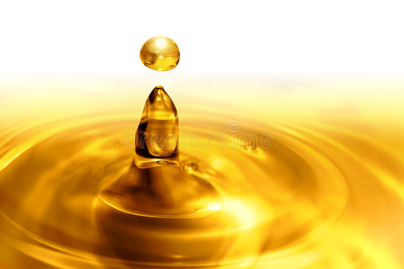 Druipende olie stock fotografie