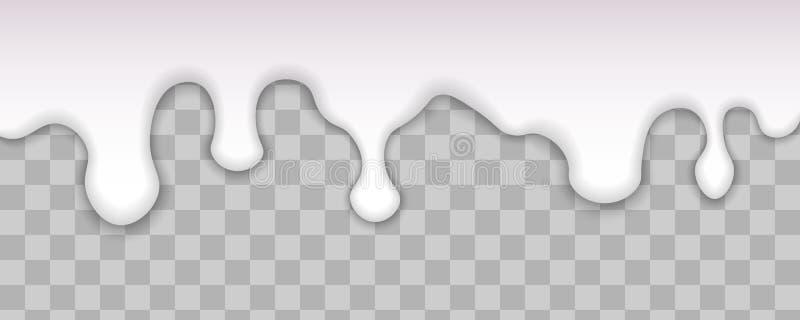 Druipende witte melk stock illustratie