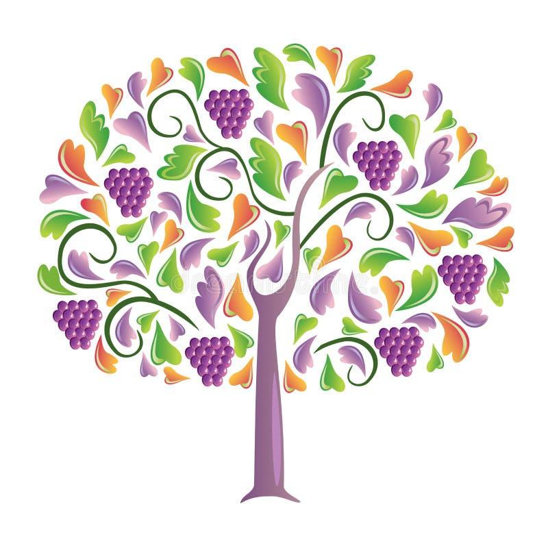 Druiven. stock illustratie