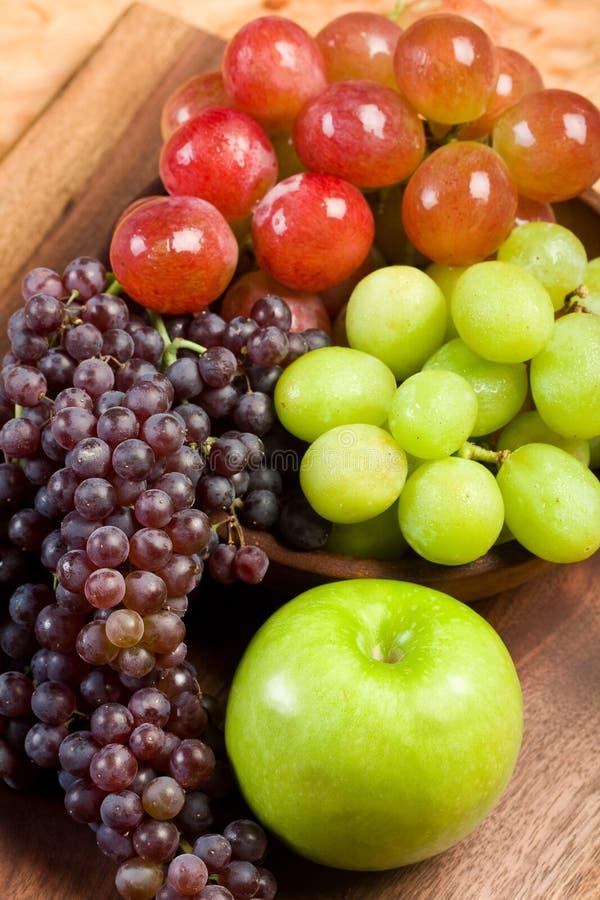 Druiven en Appel stock foto's