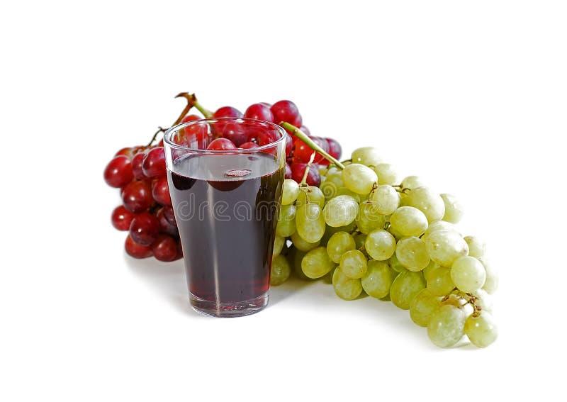 Druiven en sap royalty-vrije stock afbeeldingen
