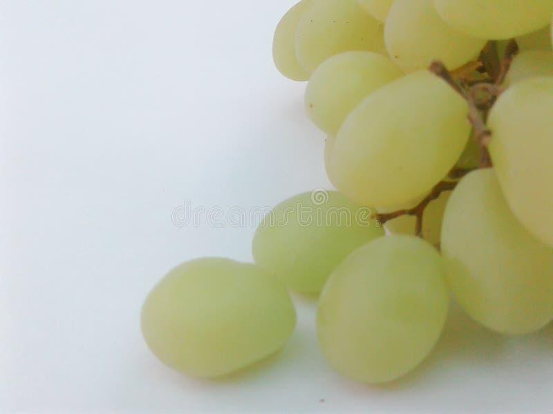 Druiven groene close-up royalty-vrije stock foto's