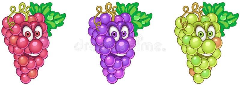 Druiven Het concept van het fruitvoedsel stock illustratie