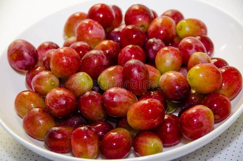 Druiven zonder stam stock afbeeldingen
