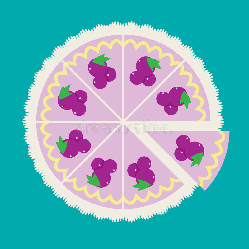 Druivencake vector illustratie