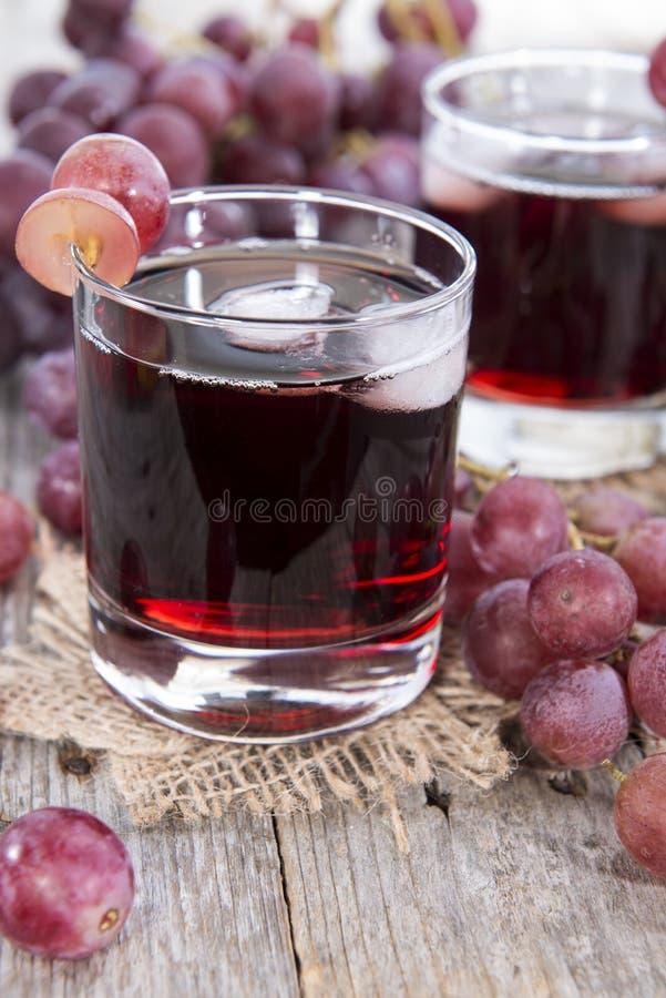 Druivesap met Ijs royalty-vrije stock foto