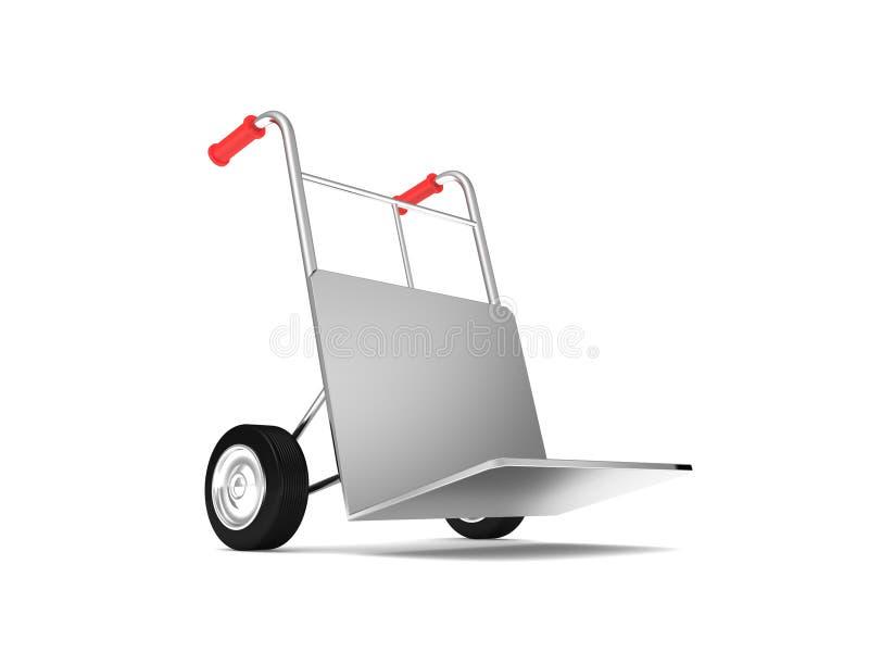 Druk de vrachtwagen van de leveringshand uit stock illustratie
