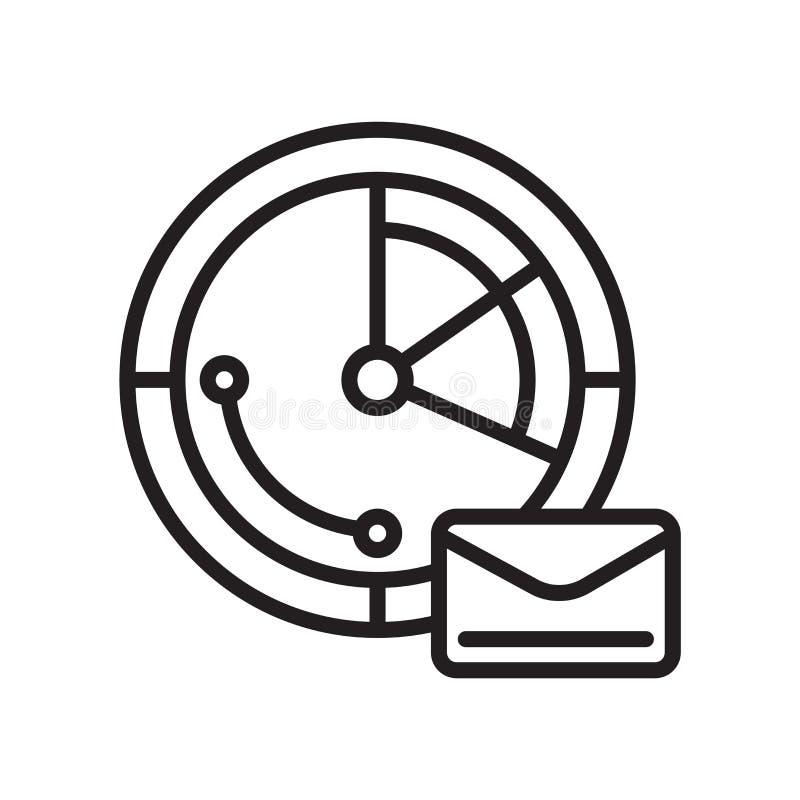 Druk het het vectordieteken en symbool van het postpictogram op witte achtergrond, het Uitdrukkelijke concept van het postembleem vector illustratie