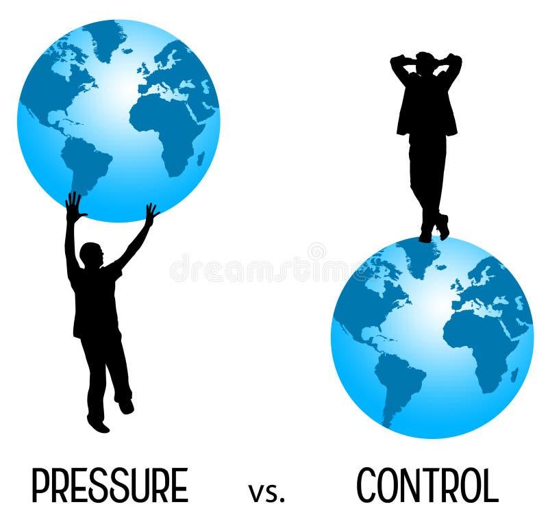 Druk tegenover controle royalty-vrije illustratie