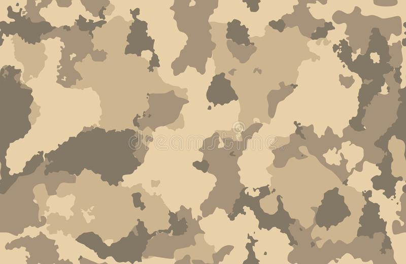 Druk tekstury militarny kamuflaż powtarza bezszwowego wojska tropi brown borowinowego piasek fotografia royalty free