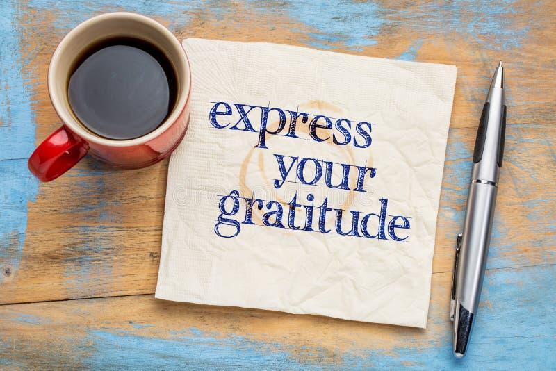 Druk uw dankbaarheid uit royalty-vrije stock afbeeldingen