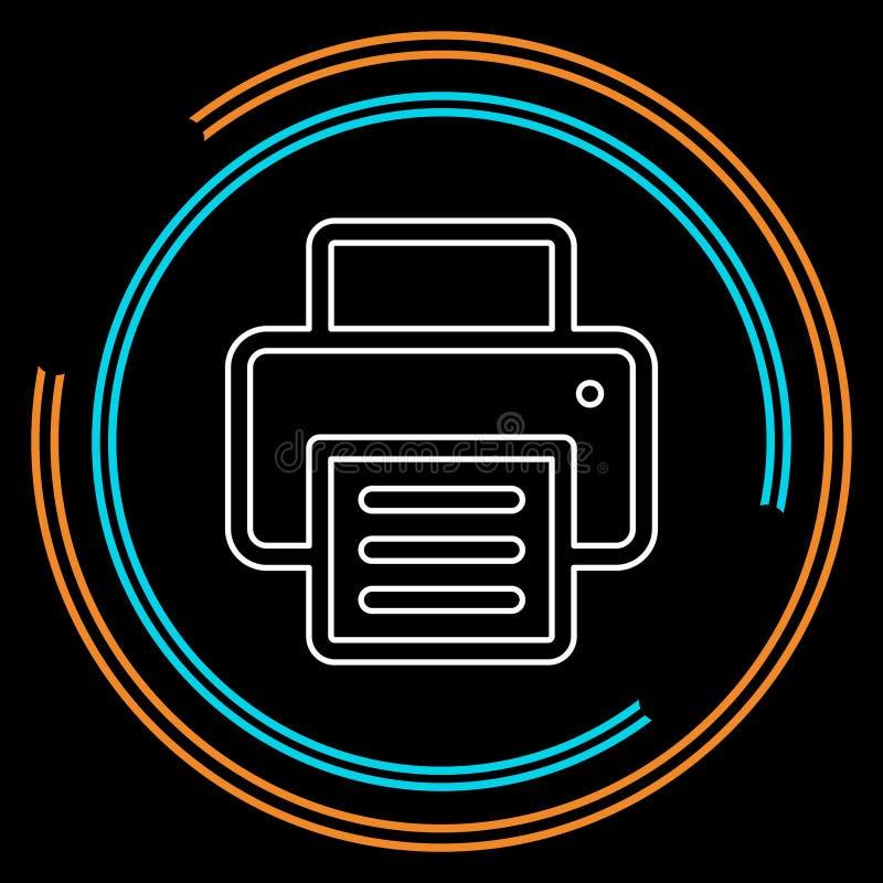 Druk vectorpictogram stock illustratie