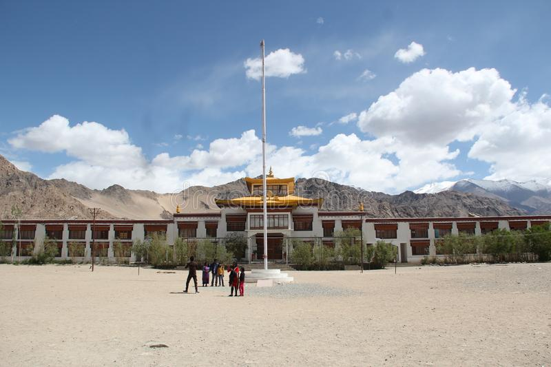 Druk White Lotus School. Druk White Lotus aims to 'walk-the-talk' as a sustainable community, located in Ladakh' royalty free stock photography
