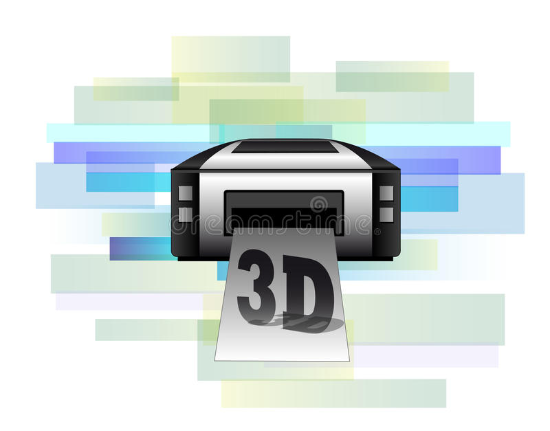 Drukarka robi 3d produktom ilustracji