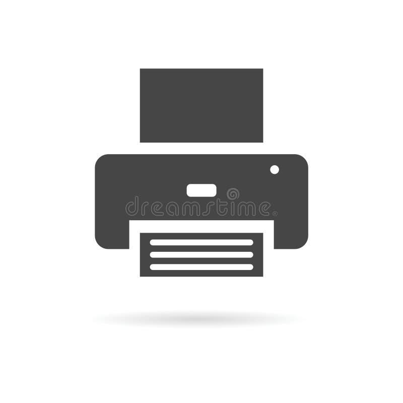 Drukarka - wektorowa ikona ilustracji