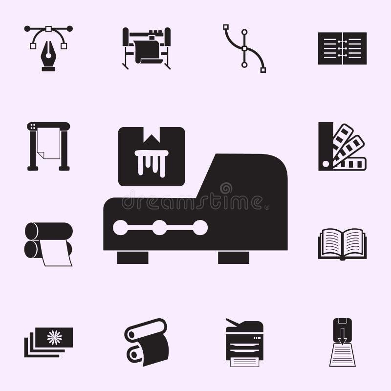 Drukarki ?adownicy ikona Drukuje domowy ikony og?lnoludzkiego ustawiaj?cego dla sieci i wisz?cej ozdoby royalty ilustracja