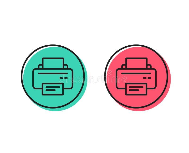 Drukarki ikona Wydruku przyrządu znak wektor ilustracji