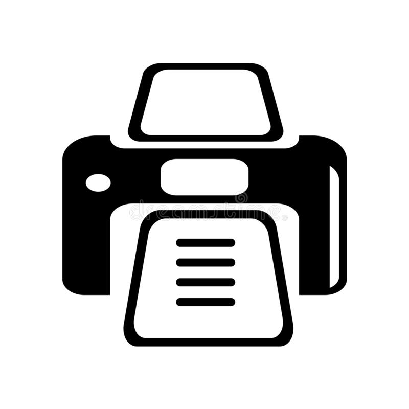 Drukarki ikony wektoru narzędziowy znak i symbol odizolowywający na białym backg ilustracja wektor