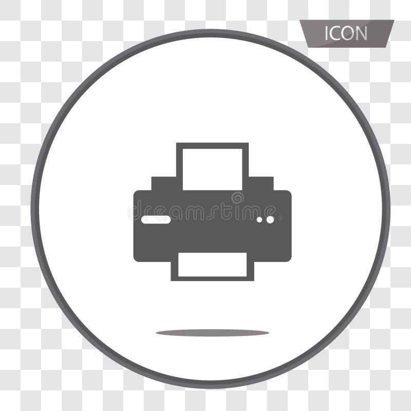 Drukarki wektorowa ikona, dokumentu drukowy symbol odizolowywający na backgr fotografia royalty free