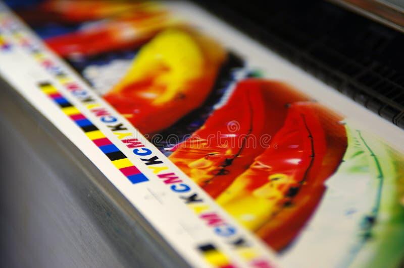 Drukcmyk tekens royalty-vrije stock afbeeldingen