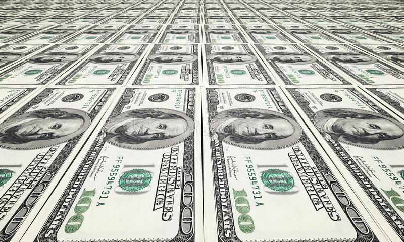 Drukdollar royalty-vrije stock foto