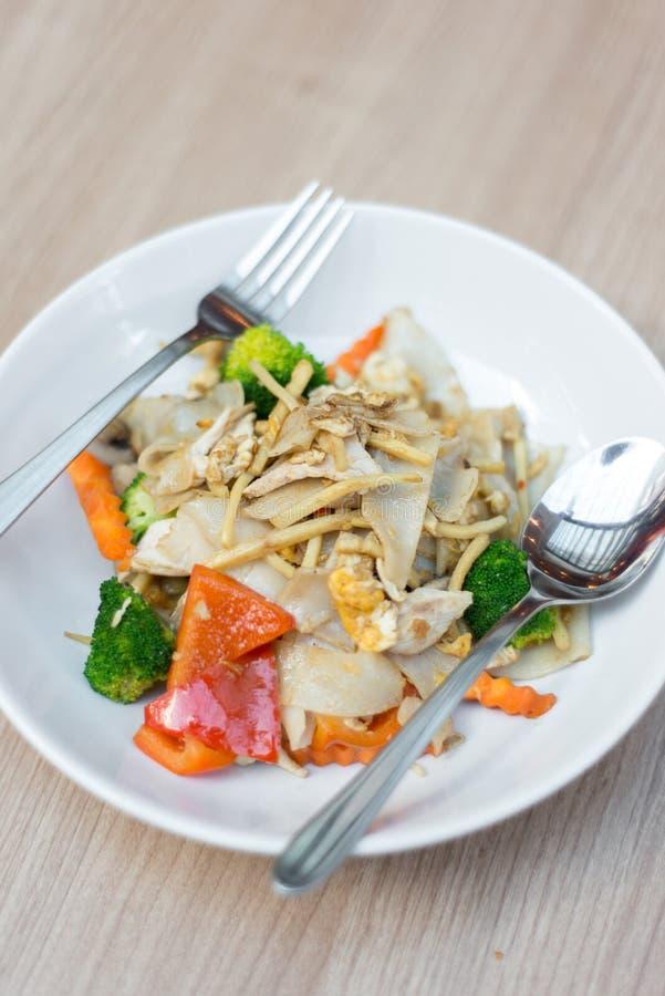 Druken noodle, stir fried food Thailand. stock images
