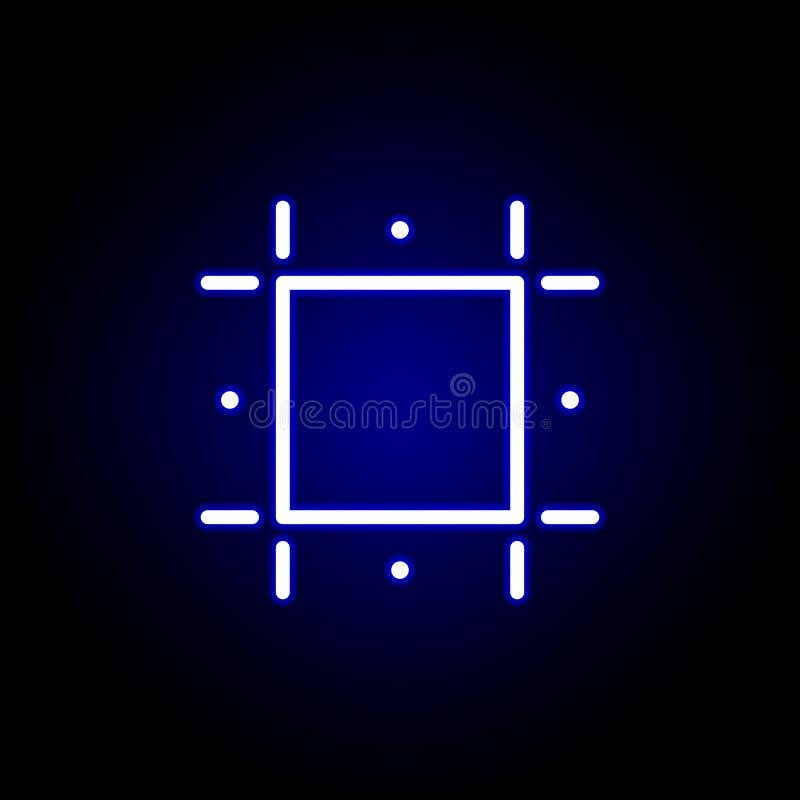 Drukgidsen, gewassenpictogram in neonstijl Kan voor Web, embleem, mobiele toepassing, UI, UX worden gebruikt royalty-vrije illustratie
