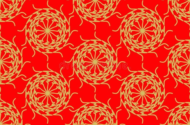Drukgolfpatroon vector illustratie
