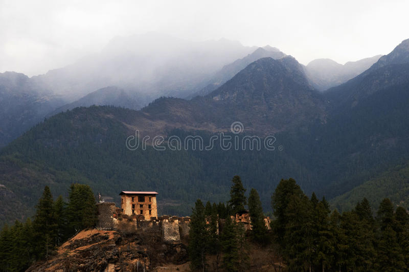 Drukgyal Dzong, Bhutan - fotografia stock