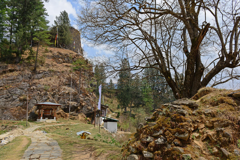 Drukgyel Dzong-Bhután imagenes de archivo