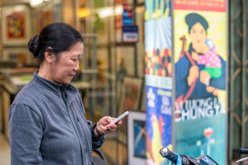 Drukken van Hanoi royalty-vrije stock foto's