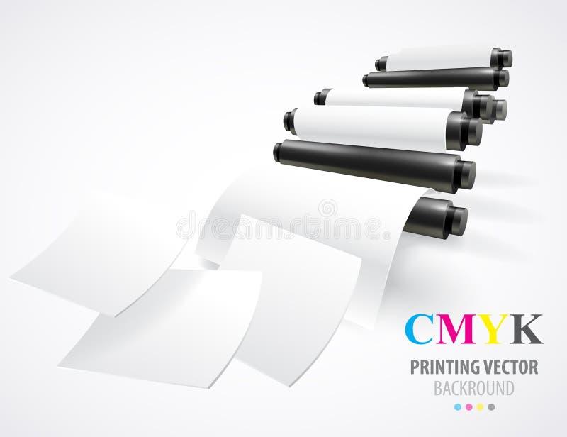 Drukmachine vector illustratie