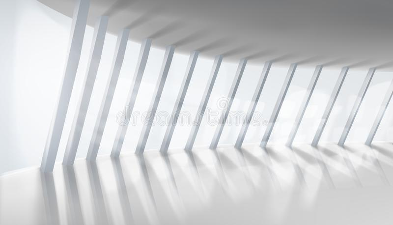 Empty interior. Illuminating sun rays. Vector illustration. stock illustration